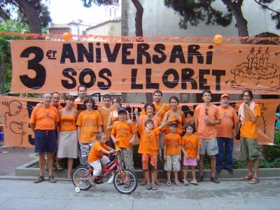 SOS Lloret 3 anys en defensa del territori