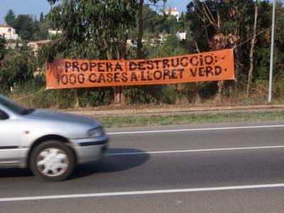 Propera destruccío: 1000 cases a Lloret Verd