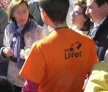 SOS Lloret Consellera Tura passa pel peatge de la C-32 a Lloret