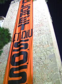 SOS Lloret pancarta campanar