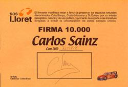SOS Lloret firma 10.000 Carlos Sainz